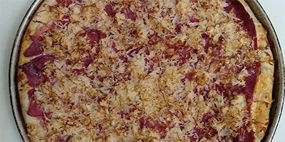 Corned Beef and SauerKraut Pizza